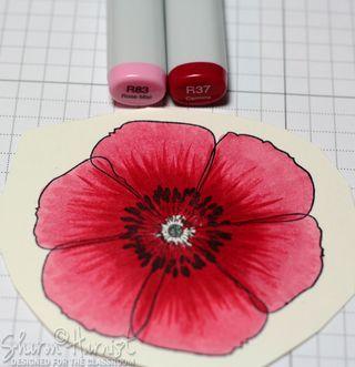 Red flower color blending by Sharon Harnist