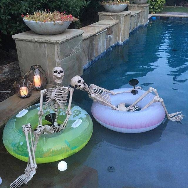 24 Best Halloween Pool Party Decoration Ideas Images On Pinterest Halloween Prop Holidays