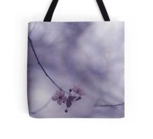 Tree blossom flowers on spring day in Spain Hasselblad square medium format film analogue photography Tote Bag