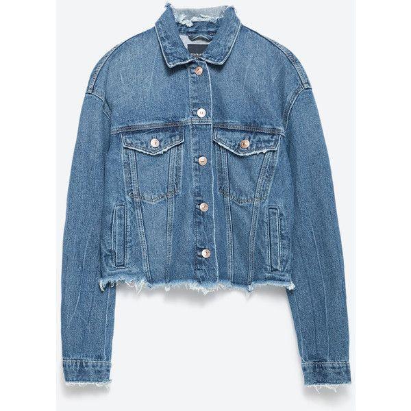 Zara Denim Jacket ($20) ❤ liked on Polyvore featuring outerwear, jackets, coats & jackets, denim jackets, april hammerstein, blue, jean jacket, zara jacket, blue jackets and blue denim jacket