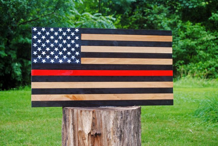 Thin Red Line Flag/ Thin Red Line Wood Flag/ Thin Red Line/ Firefighters Flag/ Firefighter/ US Flag/ Red Line/ American Flag by JWCraftsmanStore on Etsy https://www.etsy.com/listing/466976979/thin-red-line-flag-thin-red-line-wood