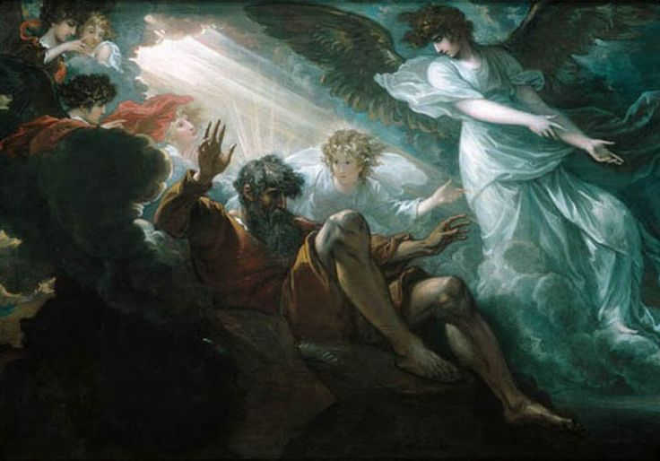 Benjamin west moses shown the promised land paintings