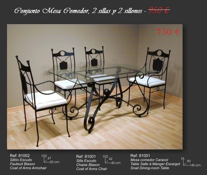 Ofertas En Mesas Y Sillas. Great Oferta Conjunto Mesa Sillas With ...