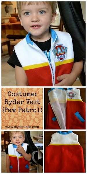 Halloween Costume: Ryder Vest {From Paw Patrol}. Instructions on how to sew this awesome, sensory-friendly costume!