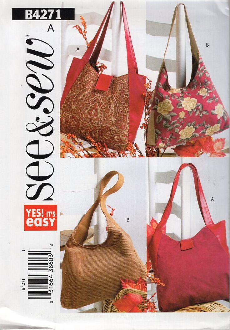 169 besten Handbag Purse Tote Sewing Pattern Bilder auf Pinterest ...