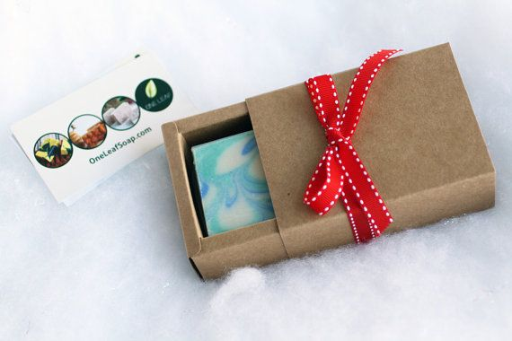 Handcrafted Soap Gift Set  Beautiful cold process by OneLeafSoap
