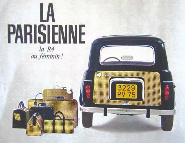 RENAULT 4 Parisienne publicité