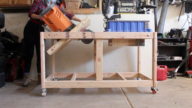 Double Ended Flip Top Workbench Plans Video Tutorial Pneumatic Addict Workbench Plans Workbench Woodworking Workbench