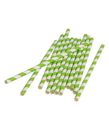 Another great find on #zulily! Lime Green Paper Straw - Set of 60 #zulilyfinds