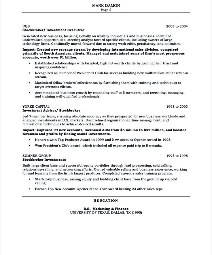 11 best Executive Resume Samples images on Pinterest Bullets - Business Skills For Resume