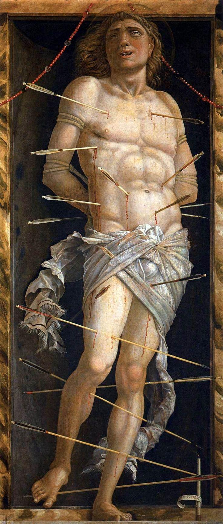 Saint Sebastian by Andrea Mantegna, c.1506, oil on canvas, Galleria Franchetti…
