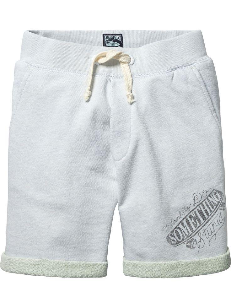 Two Tone Sweat Shorts |Sweat / Jersey Pants|Boys Clothing at Scotch & Soda