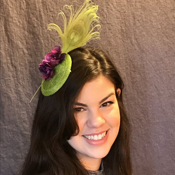 Apple Green Fascinator/Pantone color for by thefascinatormaven
