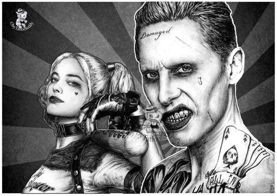 Joker & Harley Quinn von Tattooteddy auf Etsy