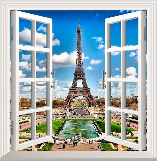 Окна пейзаж фон стены-наклейки окна наклейки поддельные имитация окна окна наклейки романтическая