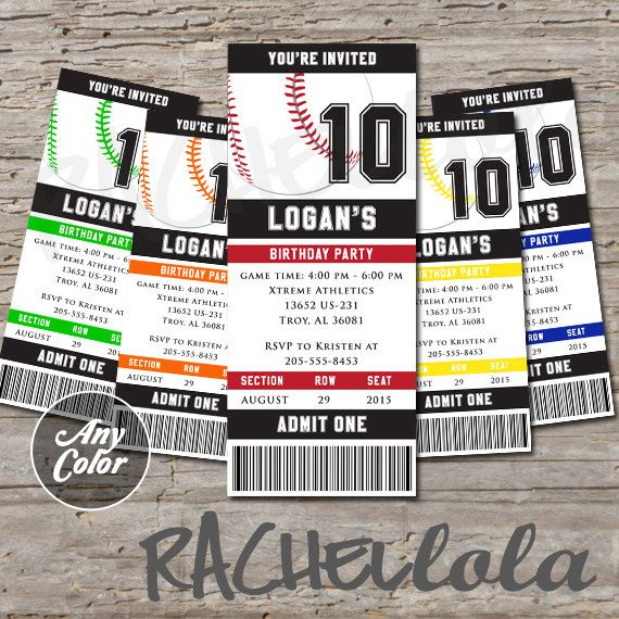 Best 25+ Baseball tickets ideas on Pinterest Baseball party - admit one template