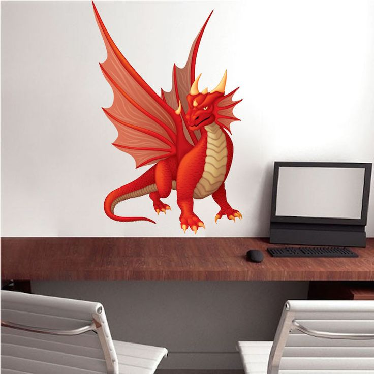 Asian Dragon Decal Mural - Asian Wall Decal Stickers - Primedecals
