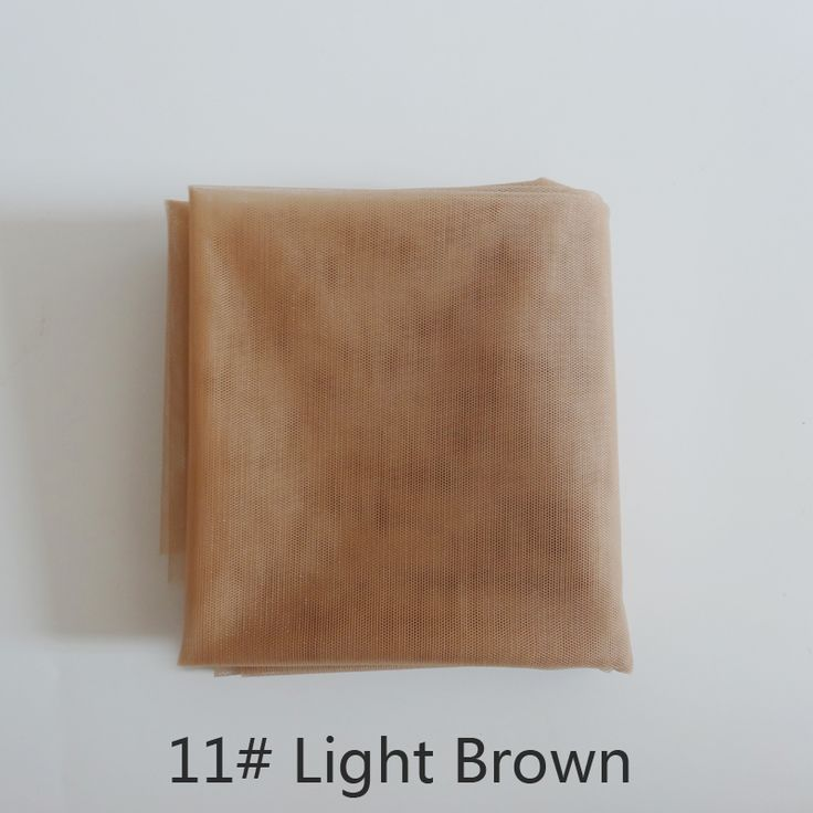 1 yard coklat swiss bahan renda wig untuk membuat dan topi wig renda wig atau lace penutupan, 5 warna tersedia kualitas tinggi
