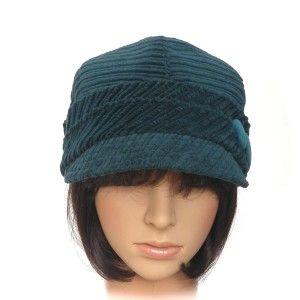 URBAN CAP - deep teal wide-wale corduroy - Rosehip Hat Studio