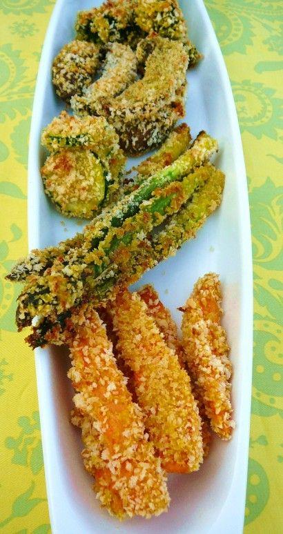 baked tempura vegetables.