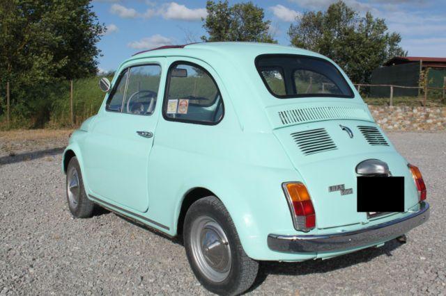 1969 Fiat 500 F model L Luxury Blue Light for sale: photos, technical specifications, description