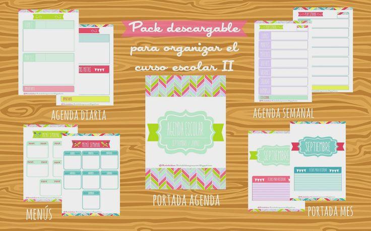 LLUVIA DE IDEAS: Descargables: Pack para organizar el curso escolar II