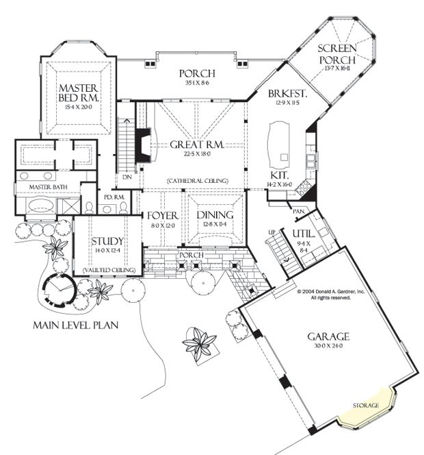 First Floor Plan of The Solstice Springs Home Design