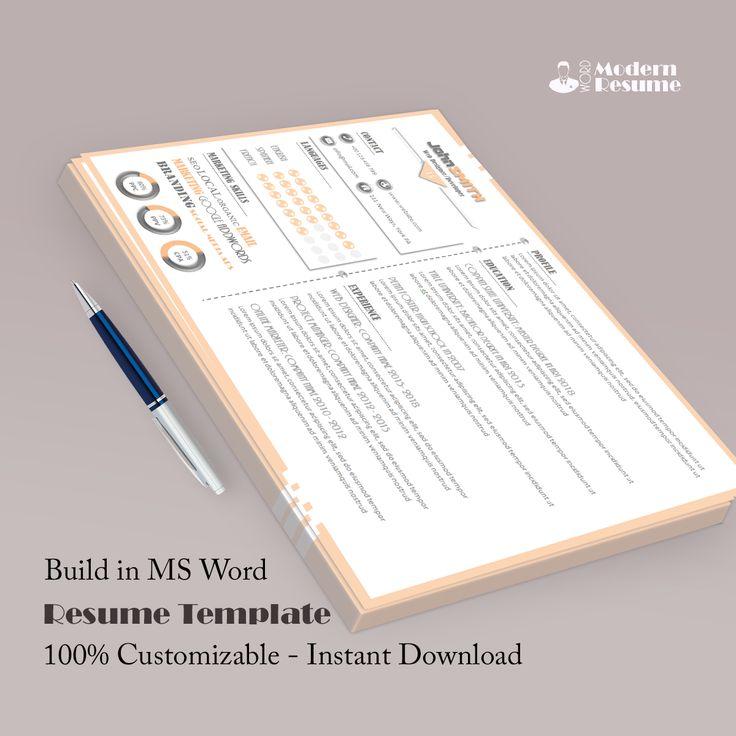 Horizontally Resume Template 100 Customizable in 2020