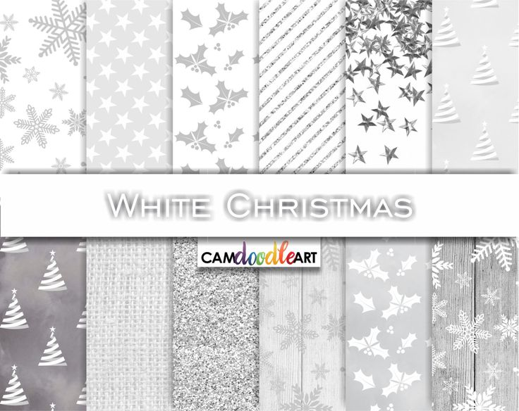Christmas Digital Paper Pack,White Christmas,Christmas Pattern,Winter Pattern,Snowflakes on Wood,Glitter Stripes,Scrapbooking Paper by CamDoodleArt on Etsy