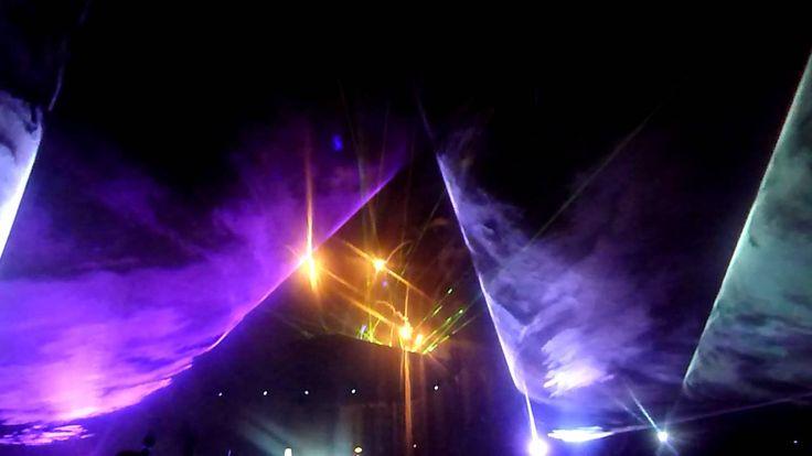 Fusion Festival 2012 Gura Raului Jocuri de laser & artificii