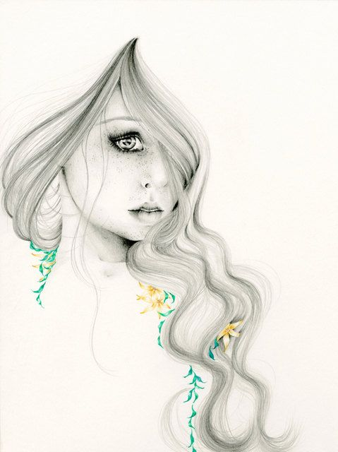 Original Drawing Beauty Within Fine Art by ABitofWhimsyArt on Etsy, $275.00