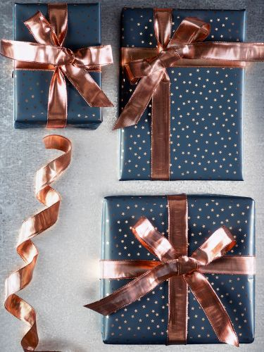 Fabulous Wired Copper Ribbon - Christmas