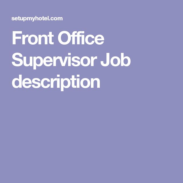 Best  Front Office Jobs Ideas On   Front Office We