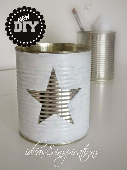 DIY Sternendose * star tin - can man in einen Adventkalender umwandeln: 24 Dosen, Nummern in den Stern schreiben.