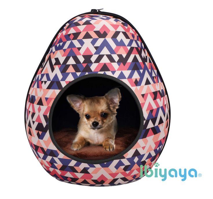 IBIYAYA Pet Bed - Dinosaur egg bed. cute geometry pattern.
