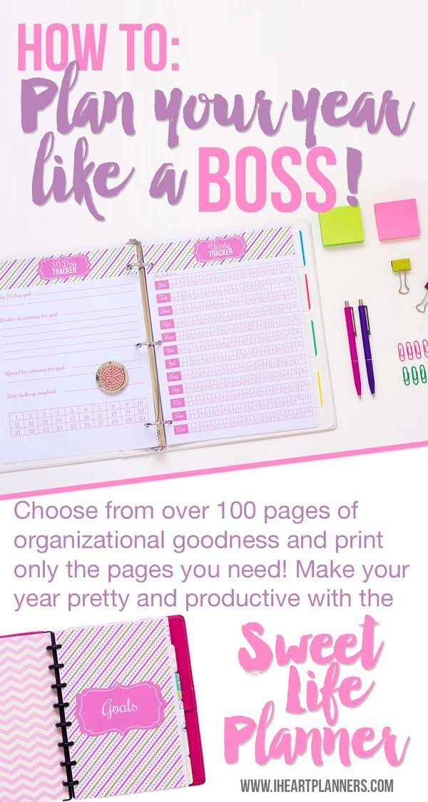 Complete printable planner. Includes over 100 pages of organizing goodness including planning, goal setting, finance, budgeting, meal planning, and more. It's available in both full letter size and half letter size to fit your junior discbound planners or A5 Filofax or other ringbound systems.