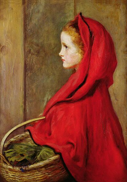 1865 John Everett Millais (English 1929-96) ~ Red riding hood