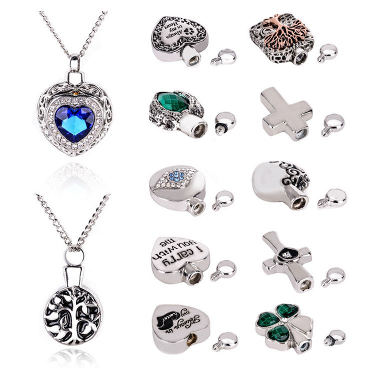 Hot Sales Metal Urn Cremation Pendant Pet Memorial Necklace Ash Holder Mini Keepsake Jewelry Long Urns for Ashes