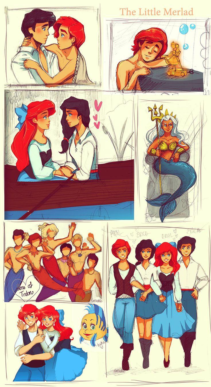 I love it! Genderbent - The Little Mermaid :D by Demachic.deviantart.com on @deviantART