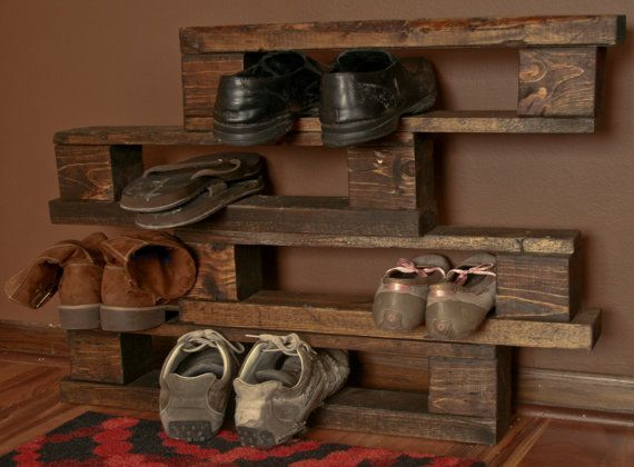 how to make a wooden shoe rack