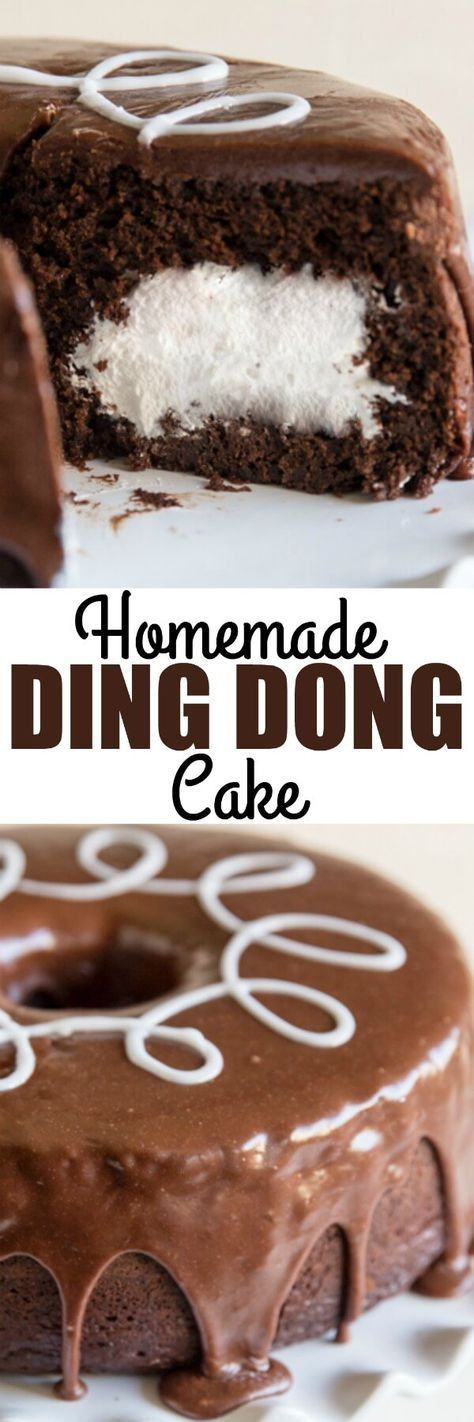 A rich chocolate cake with marshmallow filling, lots of chocolate frosting, and that irresistible white squiggle. Your favorite childhood treat, upgraded! via /culinaryhill/