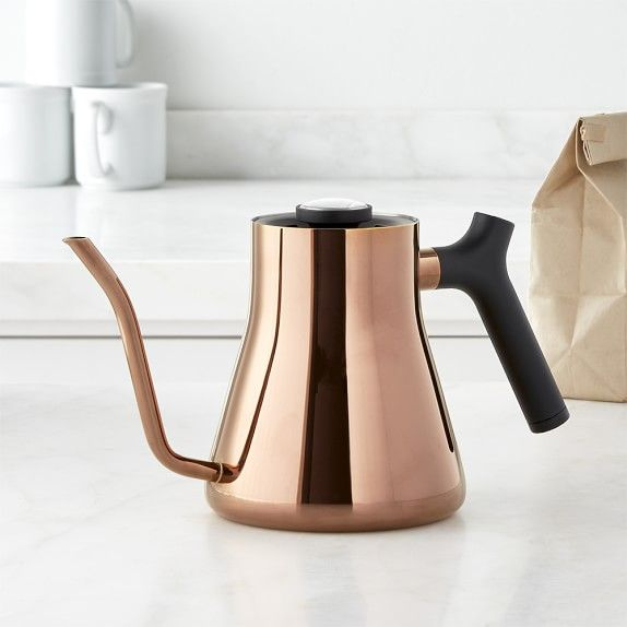Fellow Pour-Over Kettle with Thermometer, Copper