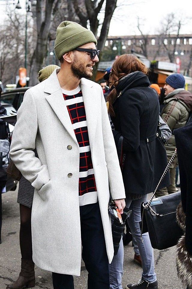 Long coat - I like how light the grey is; almost white.