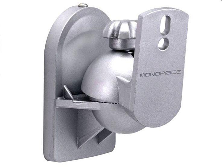 Speaker Wall Mounting Bracket - Silver (Max 7.5LBS), Set of 2