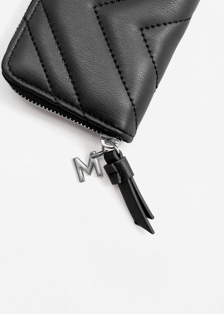 Стёганый кошелёк для монет | MANGO МАНГО