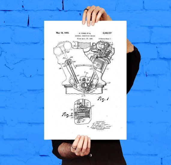 Internal Combustion Engine, Internal Combustion Engine Patent, Internal Combustion Engine Poster, Internal Combustion Engine Art, Engine by STANLEYprintHOUSE  5.00 USD  Internal Combustion Engine, Internal Combustion Engine Patent, Internal Combustion Engine Poster, Internal Combustion Engine Art, Engine  This is a vintage patent print. The Ford Internal Combustion Engine, from 1932.  This poster is printed using high quality archival inks, and will ..  https://www.etsy.com/ca/list..