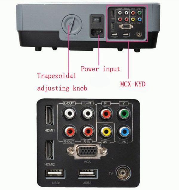 Elegant RD Lumens Multimedia LED Projector with HDMI Video VGA TV