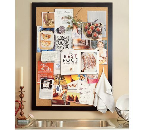kind of obsessed with pinboards. make one and put it within a gallery frame wall feature