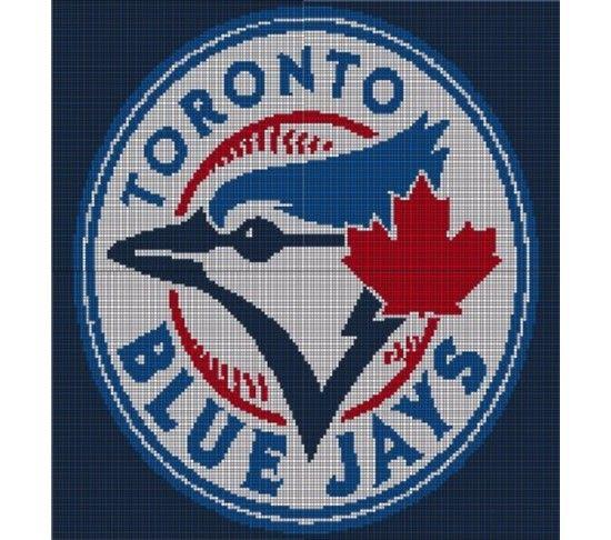 Toronto Blue Jays Crochet Pattern Afghan Graph, $3.5