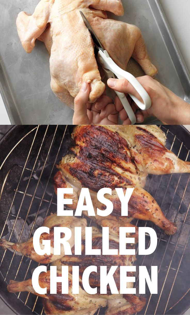 Grilled Chicken Is As Easy As It Gets With This One Simple Tip | Martha Stewart Living - Take the shortcut to an evenly cooked grilled whole chicken by cutting out the backbone and flattening the bird before grilling.